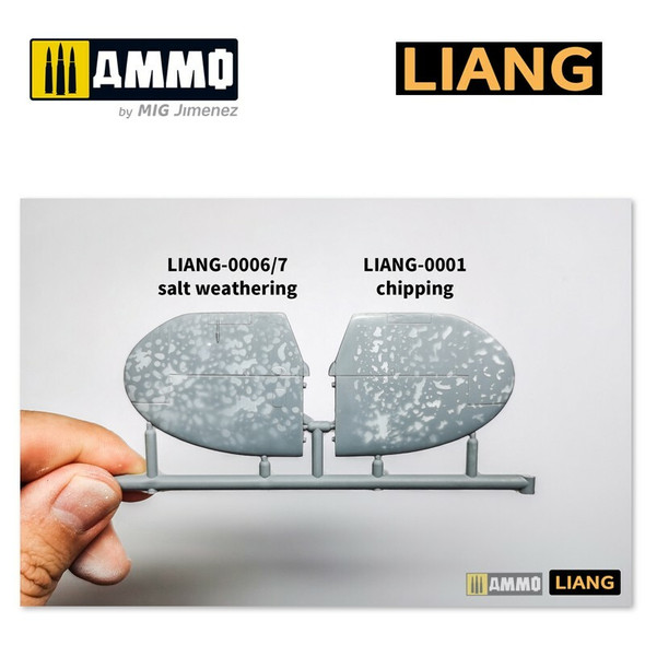 AMMO by MIG Salt Weathering Effects Airbrush Stencils Sparse LIANG-0006 AMMO by MIG