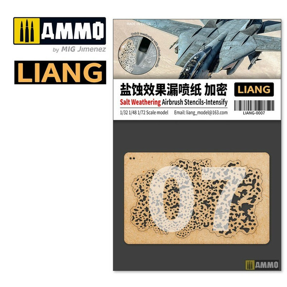 AMMO by MIG Salt Weathering Effects Airbrush Stencils Intensive LIANG-0007 AMMO by MIG
