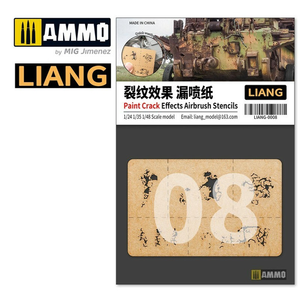 AMMO by MIG Paint Crack Effects Airbrush Stencils LIANG-0008 AMMO by MIG