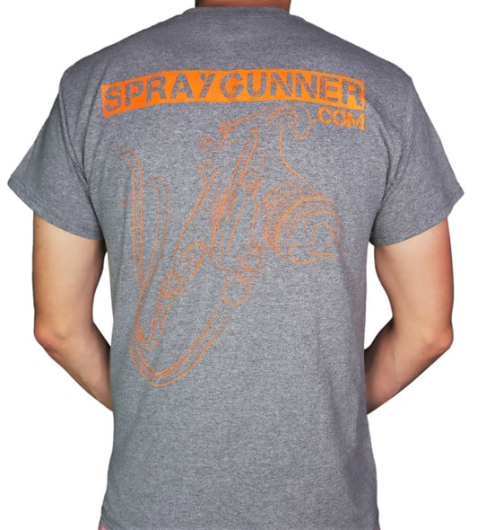 SprayGunner Light Gray T-Shirt LightHGraySG-T SprayGunner