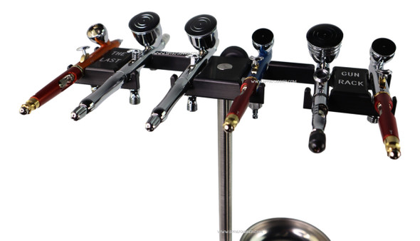 The Last Gun Rack Master Mock 2 Mini with Tray - Holds 8 Airbrushes and Spray Guns