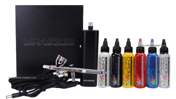 NO-NAME Brand Cordless Compressor with PS-270 Airbrush and ChromaAir Primary Set NN-CA20PS270CA-PRMSET NO-NAME brand