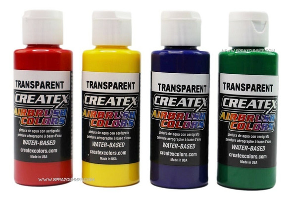 Createx Airbrush Colors Paint 4 Color Primary Set Createx4PrimaryColorSet-02 Createx