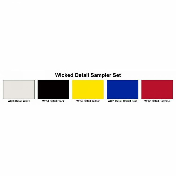 Wicked Colors Detail 2oz Sampler Set W110 W110-00 Createx