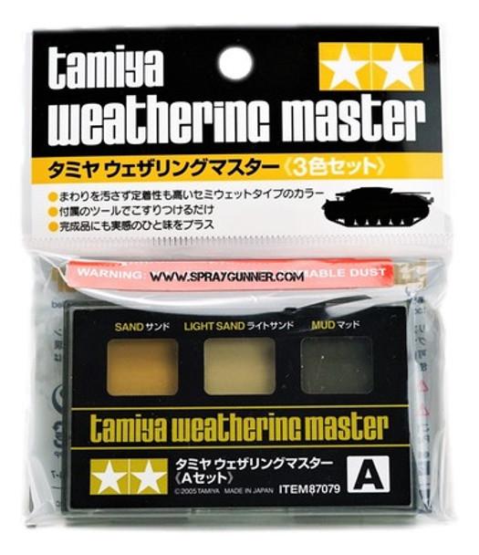 Tamiya Weathering Master Set A Sand/Light Sand/Mud 87079 Tamiya