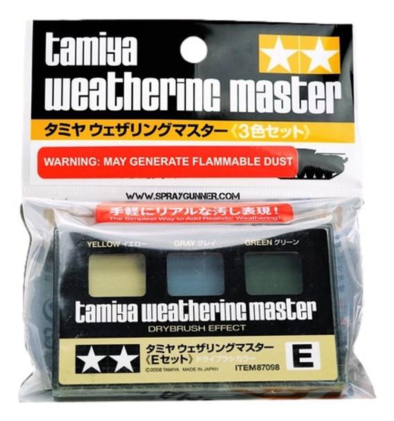 Tamiya Weathering Master Set E Yellow/Gray/Green 87098 Tamiya