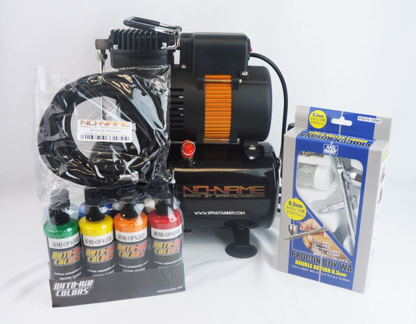 NO-NAME Tooty Airbrush Compressor PS-274 Airbrush and 1/8-1/8 3m Hose NN-AG326PS274NN-BD24 NO-NAME brand