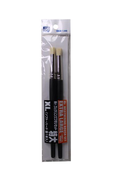 Mr Weathering Extra Large Brush Set MB34 1,000 MB34