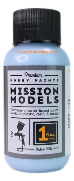 Mission Models Paints Color MMP-136 Arcadian Blue FD 1965 Powder Blue MMP-136 Mission Models Paints