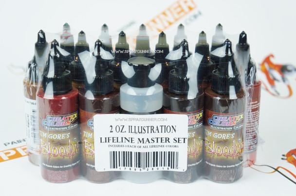 Createx Illustration Colors Lifeline Master Set 2oz 5015-02 Createx