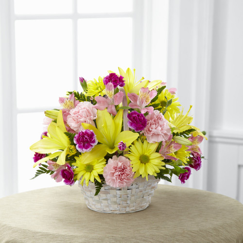 Basket of Cheer Bouquet Cypress California Florist