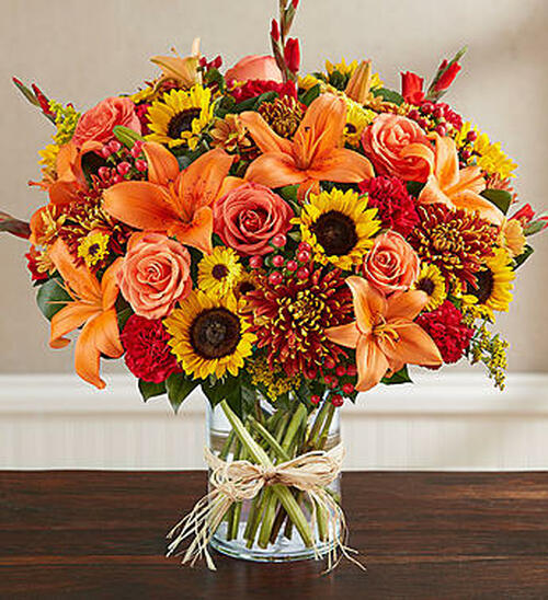 Sincerest Sorrow Fall EXCLUSIVE The passing of a loved one often brings together close family and friends. To help you express your sincerest sentiments, our caring florists have handcrafted this elegant autumn arrangement. Filled with an abundance of rich, colorful blooms, it's a thoughtful way to celebrate a life beautifully lived while providing peace to those who will miss someone very special.