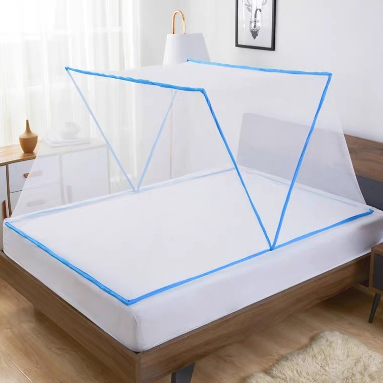 Mosquito Net Bed Canopy Tents Screen For Single To King Size Beds Blue Pink