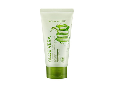 Nature Republic Soothing and Moisture Aloe Vera Cleansing Gel Foam (150ml)