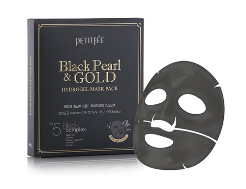 Petitfee Black Pearl & Gold Hyrogel Mask Pack