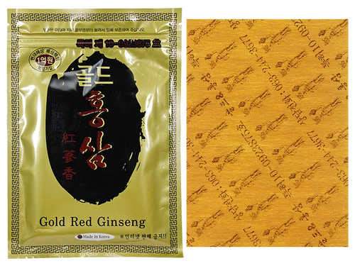 Korea Gold Red Ginseng Hot Pad Patch Powerstrip Energy Pain Relief