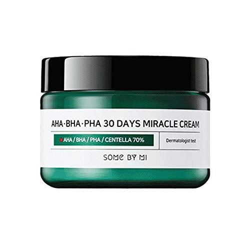 Somebymi AHA BHA PHA Miracle Cream 50ml (1.7oz) Skin Barrier & Recovery, Soothing with Tea Tree 10,000ppm for Wrinkle & Whitening Care (Last of AHA BHA PHA Miracle Series)