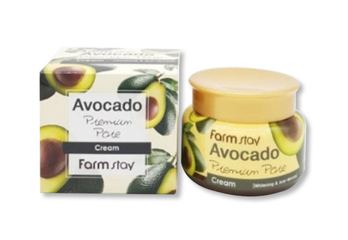 Farmstay Avocado Premium Pore Cream (100g 3.52 oz) Whitening, Anti-Wrinkle