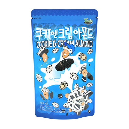 Gilim Cookie and Cream Almond (190g 6.70 oz) Korea Sweet Nut Snack New 2019