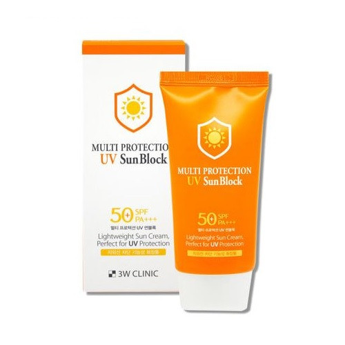 3W Clinic Multi Protection UV Sun Block (70ml 2.36 oz) SPF50+ PA+++, Sun Cream