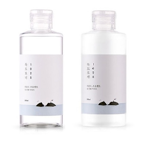 ROUND LAB 1025 DOKDO Toner, Lotion (200ml 6.76 oz) Dead Skin Cell, Blackhead Care