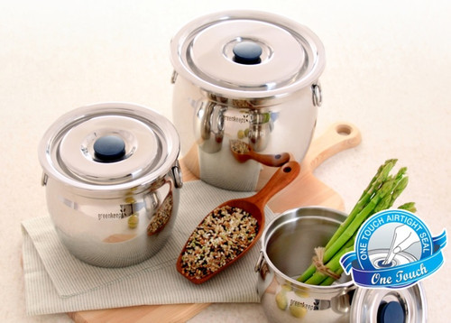 Greenkeeps One Touch High Quality Stainless Steel Storage (Pot) Airtight Food Container with Lid