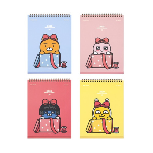 Kakao Friends 2020 Calendar (4 Types) Kakao Ribbon Desk Annual Calendar