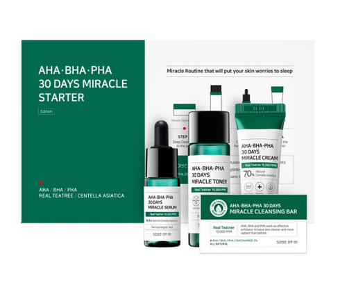 Some By Mi AHA BHA PHA 30 Days Skin Transformation Miracle Starter Kit - Edition  4Pcs
