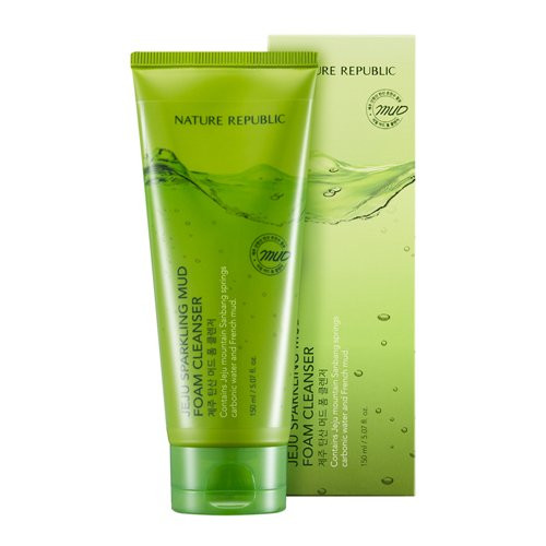 Nature Republic Jeju Sparkling Mud Foam Cleanser