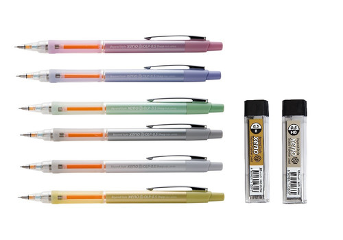 Xeno OLP 0.5mm Mechanical Pencil with with HB, B Leads, Eraser SET