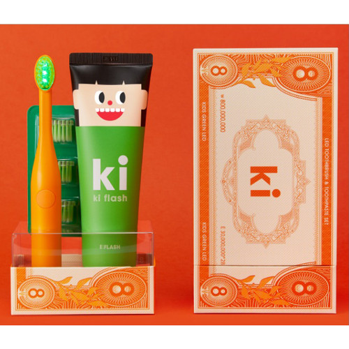 E:Flash KI Flash Green LED Dental Care Set - Orange