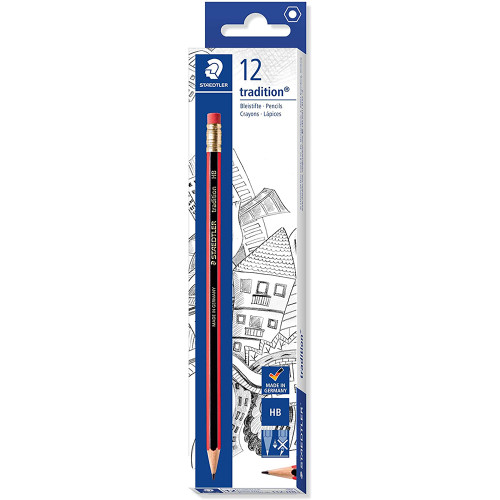 Staedtler Tradition 112 Pencil with Eraser Tip HB