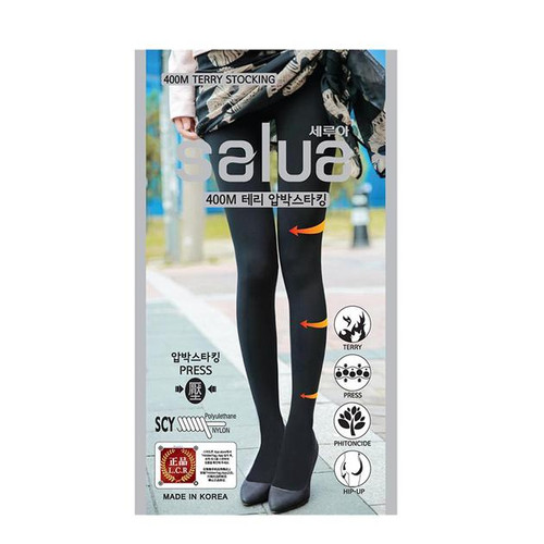 Salua Thin Legs Tights Pressure 400 Terry Stocking