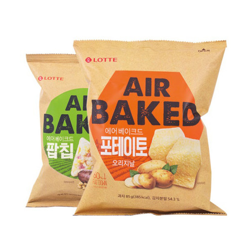 Lotte Confectionery Air Baked Pop Chip Camembert Cheese, Potato