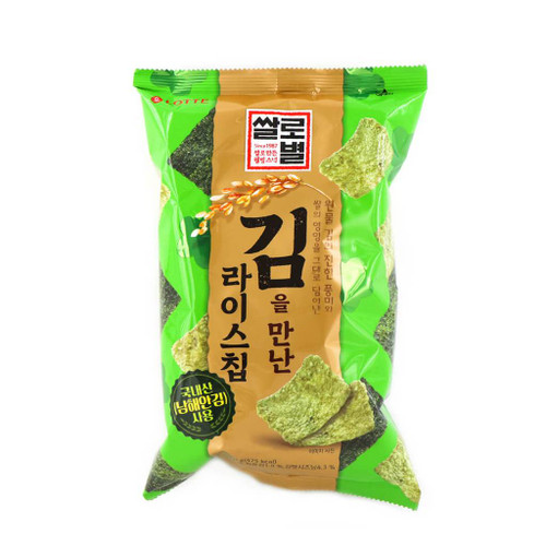 Lotte Seaweed Rice Chip Snack Meets Laver