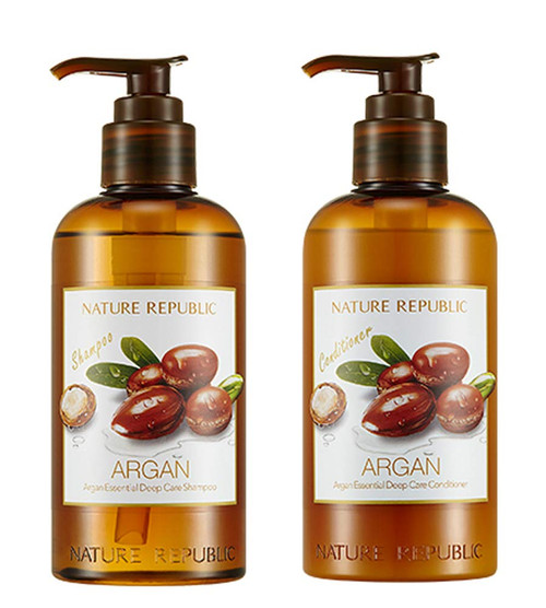 Nature Republic Argan Essential Deep Care Shampoo & Conditioner (300ml each)