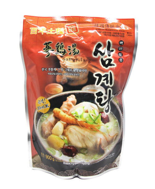 Baeknyeongtojong Korean Traditional Ginseng Chicken Soup Samgyetang Stew