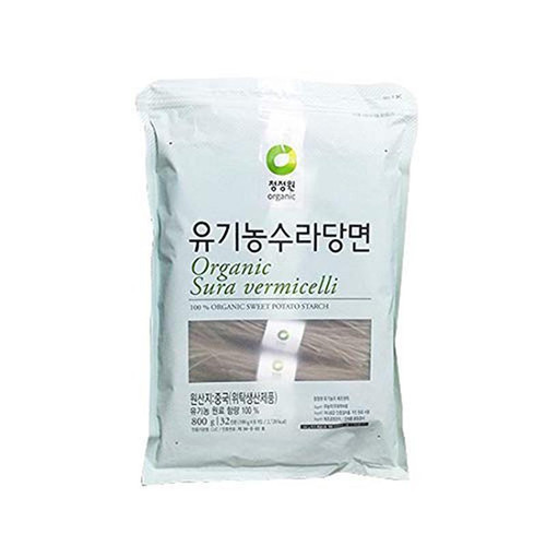 Chung Jung One Organic Sura vermicelli Sweet Potato Glass Noodle (1.76 lbs, Pack of 1)