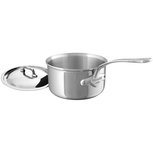 Mauviel M'Cook Stainless Steel 2.7qt Covered Saucepan
