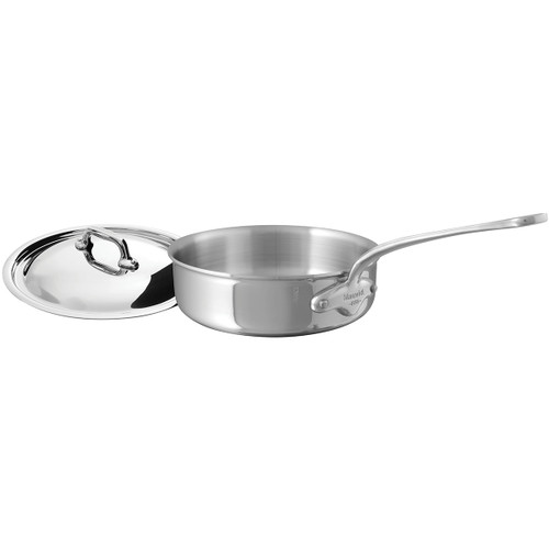 Mauviel M'Cook Stainless Steel 3.4qt Covered Sauté Pan