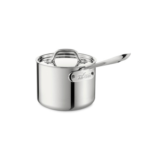All-Clad D3 Stainless Steel 2qt Covered Saucepan