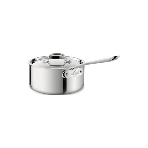 All-Clad D3 Stainless Steel 3.5qt Covered Saucepan