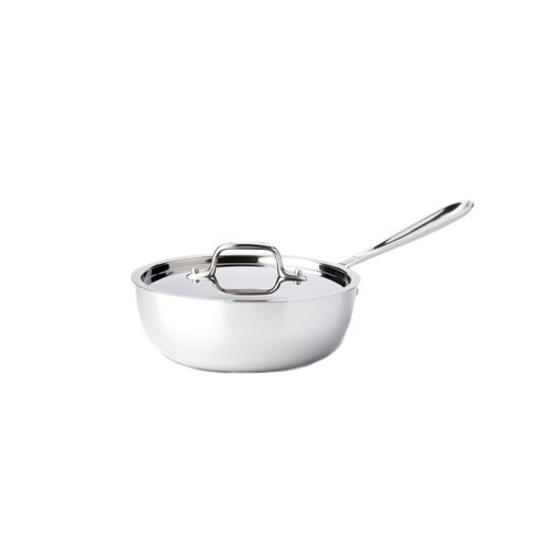 All-Clad D3 Stainless Steel 3qt Covered Saucier