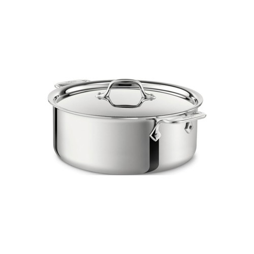 All-Clad D3 Stainless Steel 6qt Covered Stock Pot