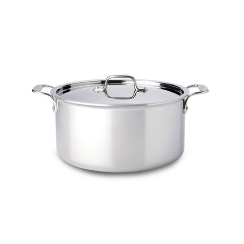 All-Clad D3 Stainless Steel 8qt Covered Stock Pot
