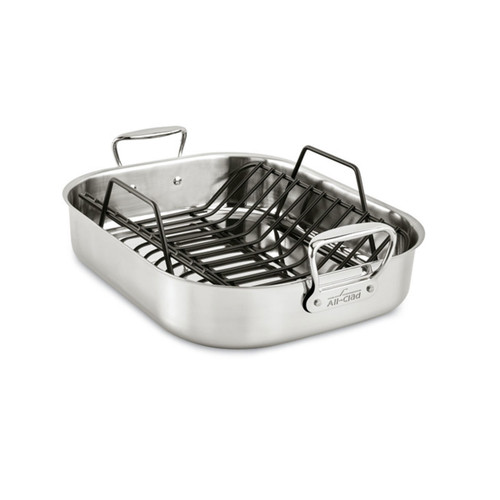 All-Clad Stainless Steel Large Roaster with Rack