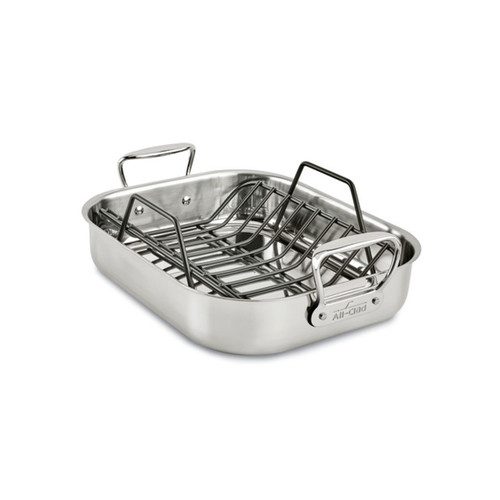 All-Clad Stainless Steel Small Roaster with Rack