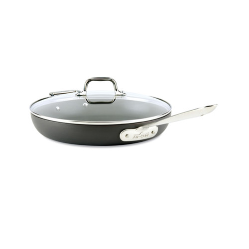 """All-Clad HA1 Nonstick 12"""" Covered Fry Pan"""
