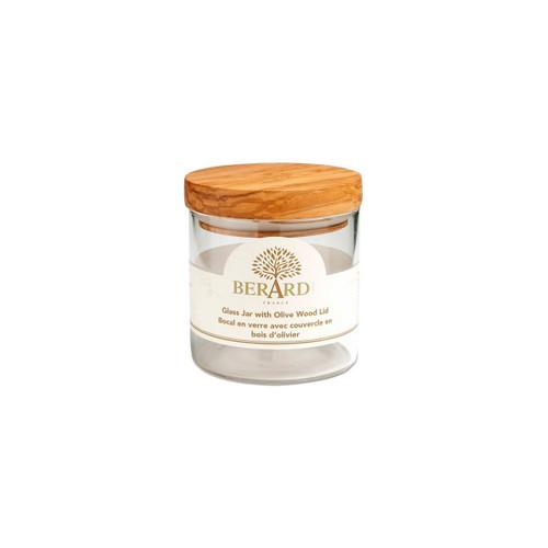 Berard Small Glass Jar with Olive Wood Lid