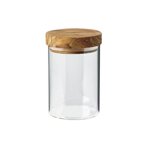 Medium Jar w/Olive Wood Lid